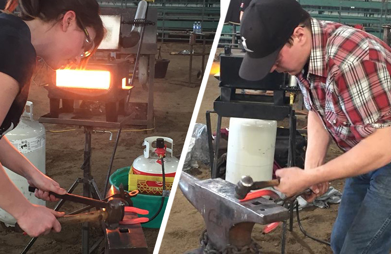 Blacksmithing Farriers Compete